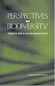 Cover of: Perspectives on Biodiversity | National Research Council.