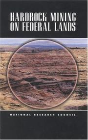 Cover of: Hardrock Mining on Federal Lands | National Research Council.