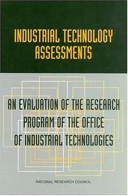 Cover of: Industrial Technology Assessments by National Research Council.