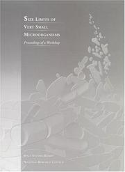 Cover of: Size Limits of Very Small Microorganisms | National Research Council.