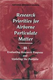 Cover of: Research Priorities for Airborne Particulate Matter | National Research Council.