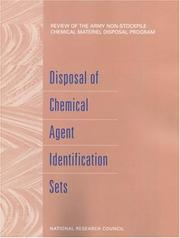 Cover of: Disposal of Chemical Agent Identification Sets by National Research Council.