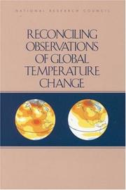Cover of: Reconciling Observations of Global Temperature Change (Compass Series) by National Research Council.