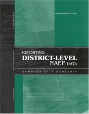 Cover of: Reporting District-Level NAEP Data | National Research Council.