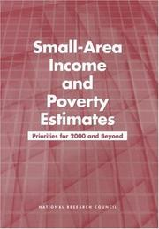 Cover of: Small-Area Income and Poverty Estimates by National Research Council.