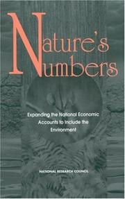 Cover of: Nature's Numbers by National Research Council.