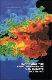 Cover of: Improving Effectiveness of U.S Climate by National Research Council.