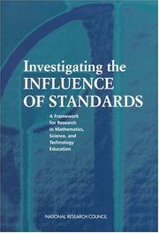 Cover of: Investigating the Influence of Standards by National Research Council.