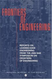 Cover of: Frontiers of Engineering | National Research Council.