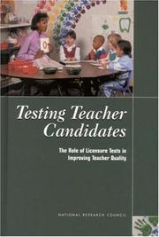 Cover of: Testing Teacher Candidates | National Research Council.