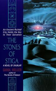 Cover of: The Stones of Stiga (Shunlar Chronicles) | Carol Heller