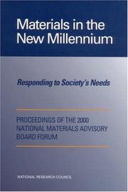 Cover of: Materials in the New Millennium | National Research Council.