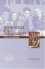 Cover of: Adolescent Risk and Vulnerability by National Research Council.