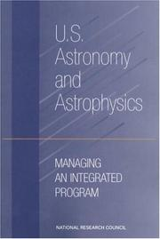 Cover of: U.S. Astronomy and Astrophysics | National Research Council.