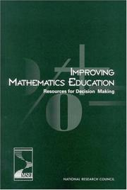 Cover of: Improving Mathematics Education | National Research Council.