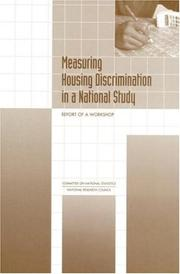Cover of: Measuring Housing Discrimination in a National Study | National Research Council.