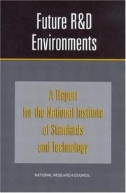 Cover of: Future R&D Environments by National Research Council.