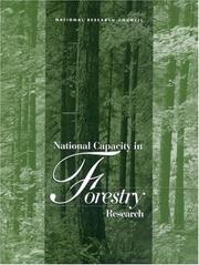 Cover of: National Capacity in Forestry Research | National Research Council.