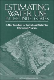 Cover of: Estimating Water Use in the United States | National Research Council.