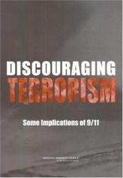 Cover of: Discouraging Terrorism by National Research Council.