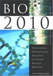 Cover of: BIO2010 | National Research Council.