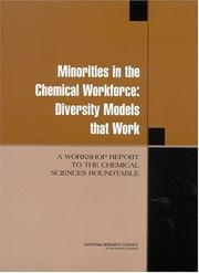 Cover of: Minorities in the Chemical Workforce | National Research Council.