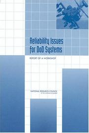 Cover of: Reliability Issues for DOD Systems by National Research Council.