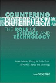 Cover of: Countering Bioterrorism by National Research Council.
