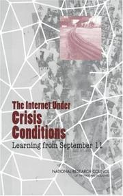Cover of: The Internet Under Crisis Conditions | National Research Council.
