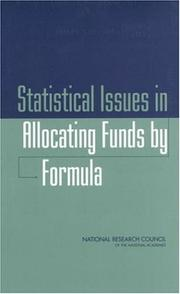 Cover of: Statistical Issues in Allocating Funds by Formula by National Research Council.