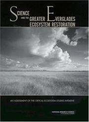 Cover of: Science and the Greater Everglades Ecosystem Restoration by National Research Council.