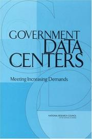 Cover of: Government Data Centers | National Research Council.