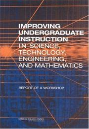 Cover of: Improving Undergraduate Instruction in Science, Technology, Engineering, and Mathematics | National Research Council.