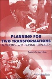 Cover of: Planning for Two Transformations in Education and Learning Technology by National Research Council.