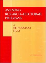 Cover of: Assessing Research-Doctorate Programs | National Research Council.