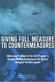 Cover of: Giving Full Measure to Countermeasures | National Research Council.