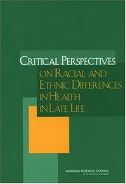 Cover of: Critical Perspectives on Racial and Ethnic Differences in Health in Late Life | National Research Council.