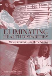 Cover of: Eliminating Health Disparities | National Research Council.