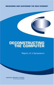 Cover of: Deconstructing the Computer | National Research Council.
