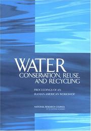 Cover of: Water Conservation, Reuse, and Recycling | National Research Council.