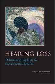 Cover of: Hearing Loss | National Research Council.