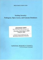 Cover of: Seeking Security | National Research Council.