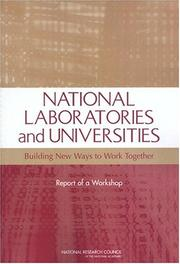 Cover of: National Laboratories and Universities by National Research Council.