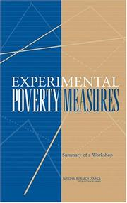 Cover of: Experimental Poverty Measures by National Research Council.