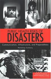 Cover of: Public Health Risks of Disasters | National Research Council.