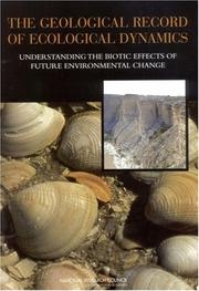 Cover of: The Geological Record of Ecological Dynamics | National Research Council.