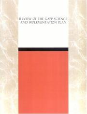 Cover of: Review of the GAPP Science and Implementation Plan | National Research Council.