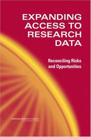 Cover of: Expanding Access to Research Data by National Research Council.