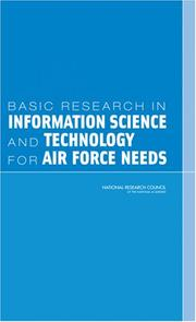 Cover of: Basic Research in Information Science and Technology for Air Force Needs | National Research Council.