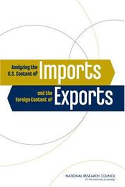Cover of: Analyzing the U.S. Content of Imports and the Foreign Content of Exports | National Research Council.